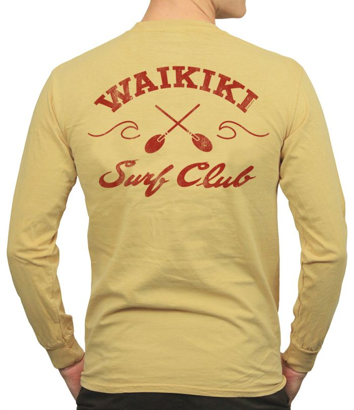 Waikiki Surf Club 1948 Men's Long Sleeve T-shirt