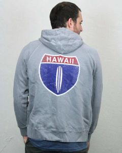 Hawaii Hwy 1 Men's Zip Hoodie