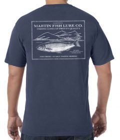 Martin Salmon Lures Vintage Label T-Shirt