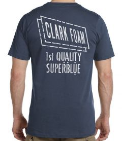 Clark Foam Super Blue Retro Stencil T-Shirt