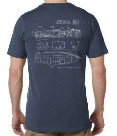 Penn Yan 1938 Runabout Blueprint T-Shirt