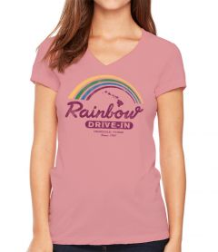 Rainbow Drive-In Retro Islands V-Neck T-Shirt