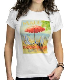 Maui Grand Hotel Women's White T-Shirt