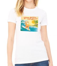 Surfing Santa Women's T-Shirt