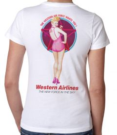 Western Airline Retro Pin-Up T-Shirt