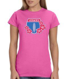 5 &10 Hawaii Highway 1 Floral Women's T-Shirt