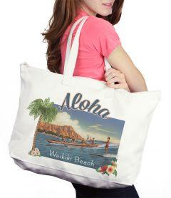 Aloha Waikiki Beach Bag