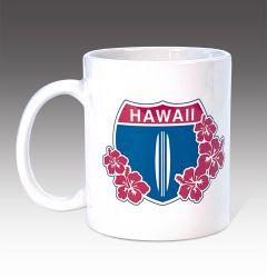 Hi Hwy 1 Floral Mug