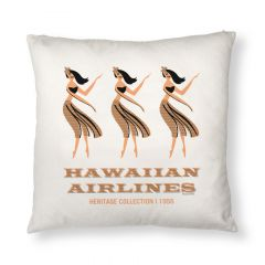 Hawaiian Airlines Hula Girls Pillow Case