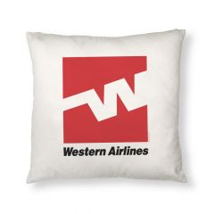 Western Airlines Logo Throw Pillow Cover