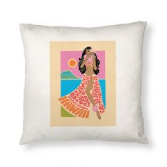 Western Airlines Hula Girl Throw Pillow Cover