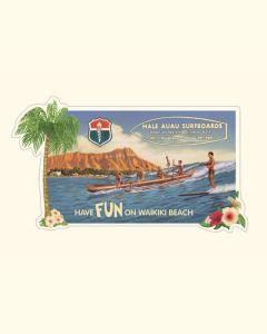 Hale Auau Sticker