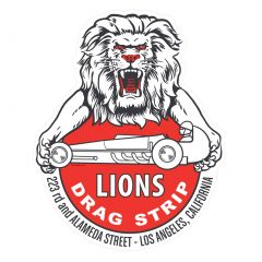 Lions 223 Alameda Street Retro Sticker