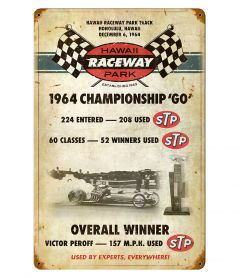 Hawaii Raceway Park Vintage Metal Sign