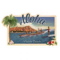 Aloha Waikiki Sticker