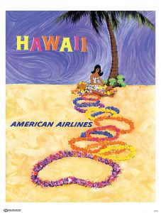 American Airlines Hawaii Poster