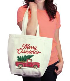 Christmas Tree Truck Tote