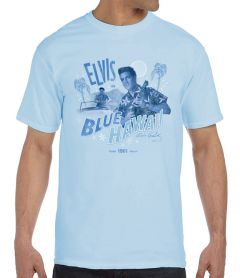 Elvis in Blue Hawaii Men's T-Shirt