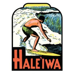 Haleiwa Surfer Sticker