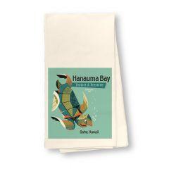 Hanauma Bay Turtle Flour Sack Dish Towel