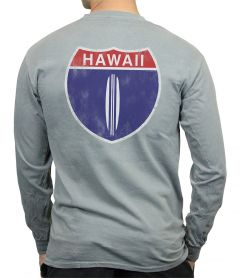 Hawaii Highway 1 Men's Long Sleeve