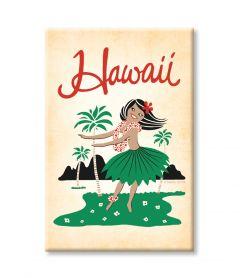 Hawaii Hula Girl Magnet