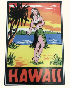 Hawaii Hula Sticker