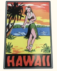 Hawaii Hula Sticker