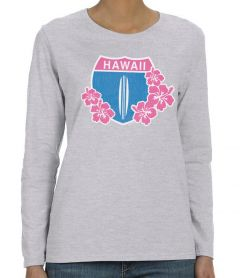 Hawaii Highway 1 Floral Long Sleeve
