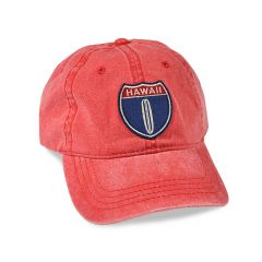 Hawaii Hwy 1 Red Adjustable Cap