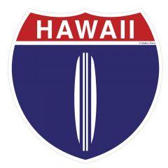 Hawaii Hwy 1 Sticker