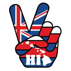 Hawaii Peace Sticker