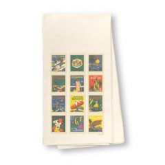 Hawaii Stamps Flour Sack Dish Towel