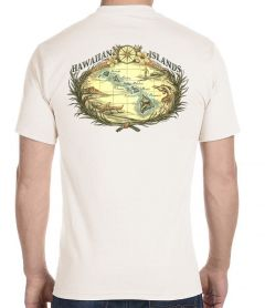 Hawaiian Islands Woodcut T-Shirt