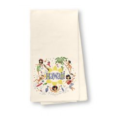 Here's Hawaii Flour Sack Dish Towel