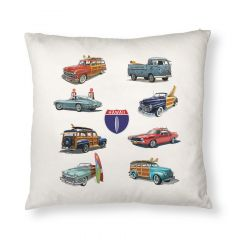 Hi Hwy 1 Cars Throw Pillow Cover