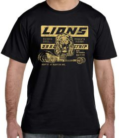 Lions Drag Strip Black T-Shirt