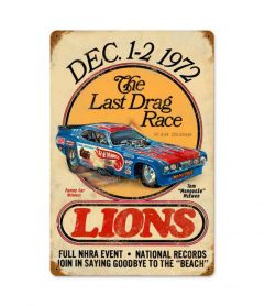 Lions Mongoose Last Drag Metal Sign
