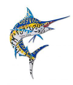 Marlin License Plate Metal Sign