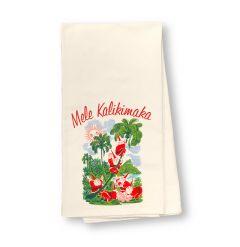 Mele Kalikimaka Flour Sack Dish Towel
