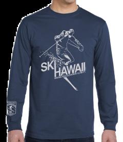 Men's Ski Hawaii Long Sleeve T-Shirt