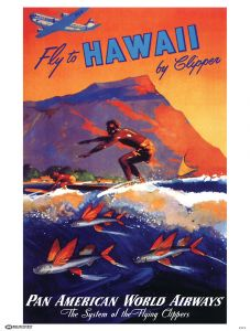 Pan Am Fly Hawaii Poster