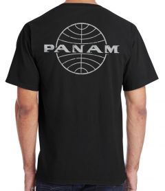 Pan Am Globe Black T-Shirt