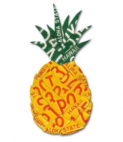 Pineapple License Plate Metal Sign