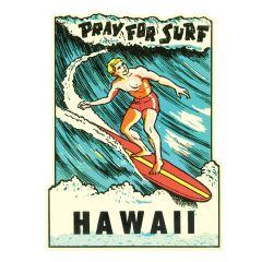 Pray For Surf Sticker