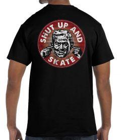 Shut up and Skate Black T-Shirt