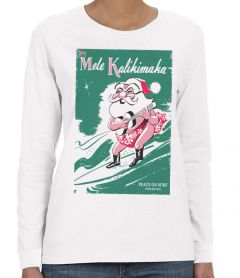 Surfing Santa 49 Long Sleeve T-Shirt