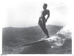 Waikiki Longboarder Poster