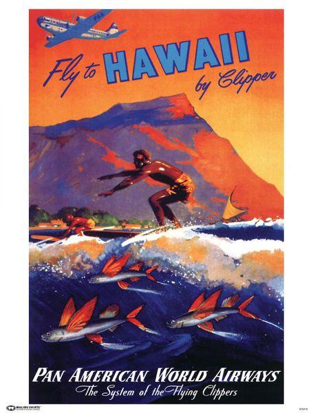 Pan Am Fly Hawaii Poster