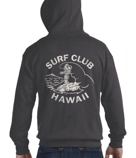 Surf Club Hawaii Men's Zip Hoodie